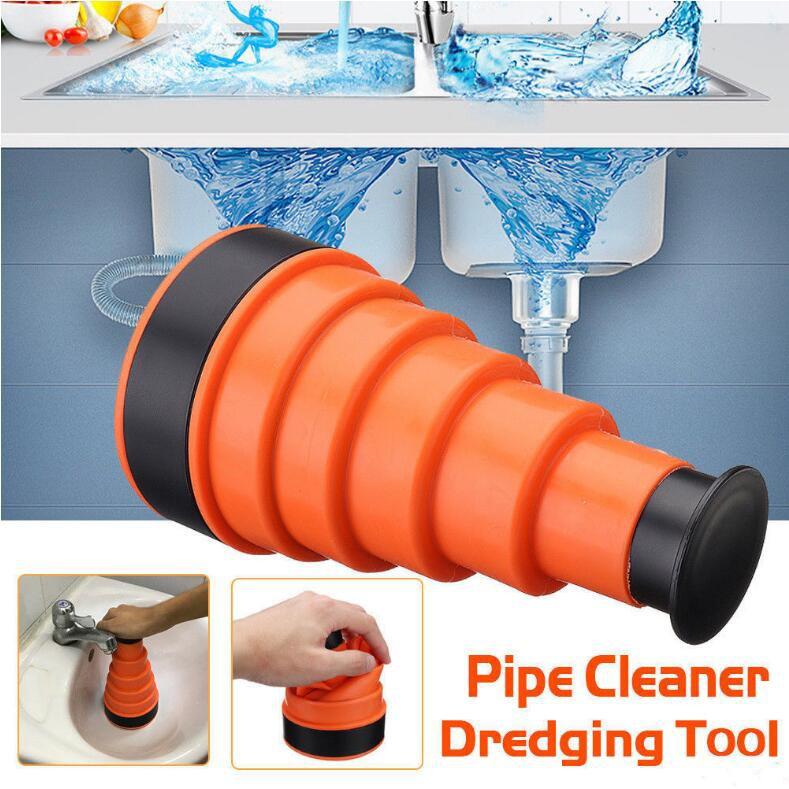 Manual Clog Remover Orange High Pressure Manual Air Power Sink Plunger for Kitchen Toilet Bathroom Sink Drain