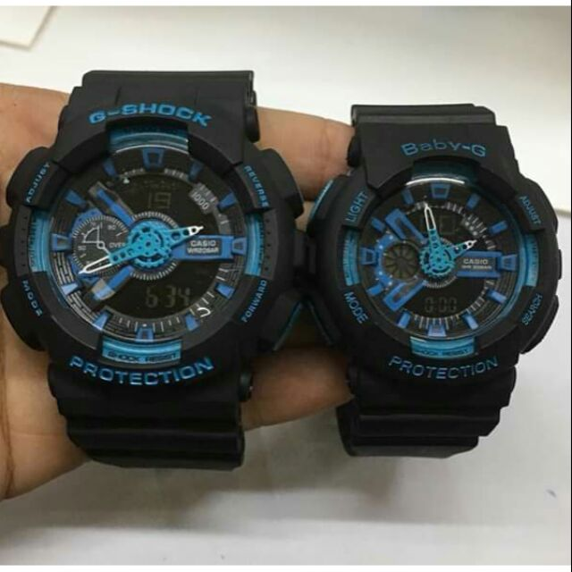 G Shock Waterproof >> G Shock And Baby G Couple Waterproof Watch Shopee Philippines