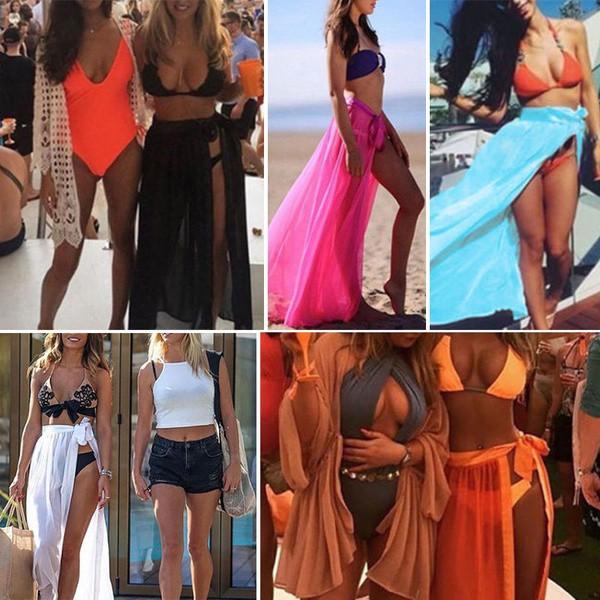 b6fa6c6192 ProductImage. ProductImage. Hot Sexy Women Bikini Cover Up Scarf Wrap Beach  Sarong Long Maxi Skirt