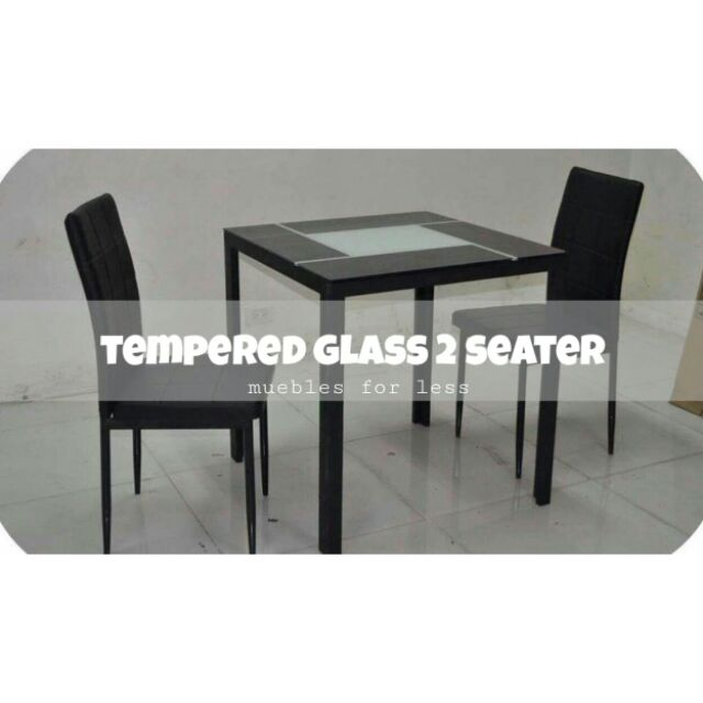 Black And White Glass Dining Set Shopee Philippines
