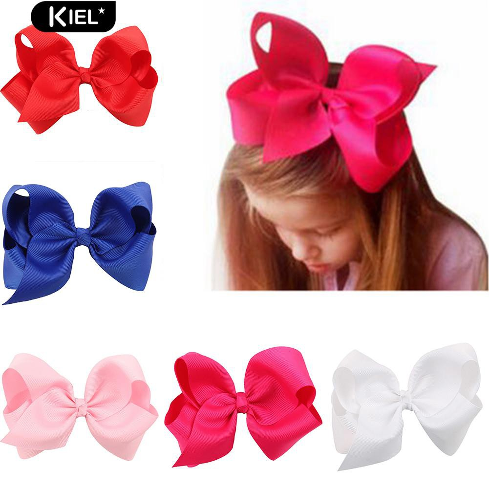1PC Large Ribbon Bow Hair Clip Two Tone Hair Accessories for Toddler Girls