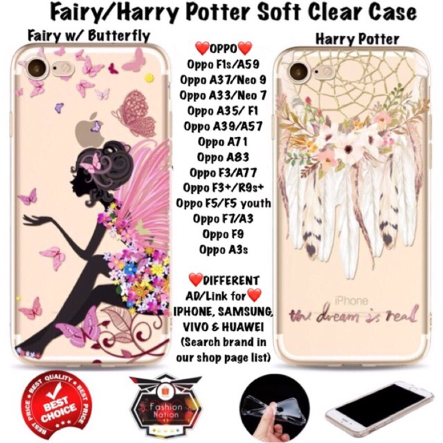 finest selection 77a8f aed53 Fairy Harry Oppo Case F1s A37 A71 A83 A33 F1 F3 F5 F7 iphone