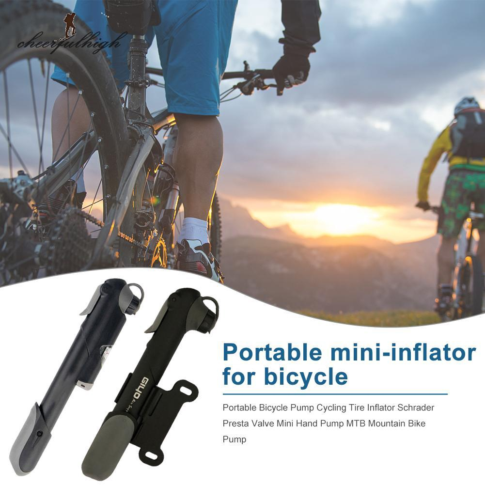 Portable Cycling Bicycle Mini Air Pump Schrader//Presta Double Stroke Gas Mouth