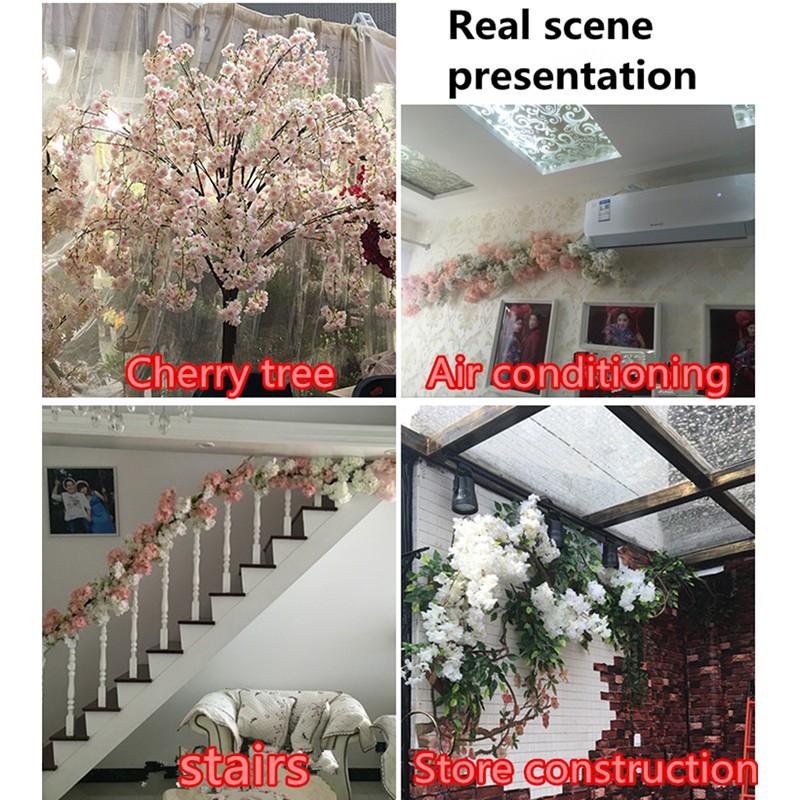 c154d42e066e Artificial Flowers Silk Cherry Blossoms Simulation Wedding Home ...