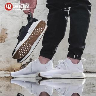 Lin Adidas Original [11.11] Nmd_R1 Pk Black White MenWomen Shoes 36 45 Leisure Sports Shoes