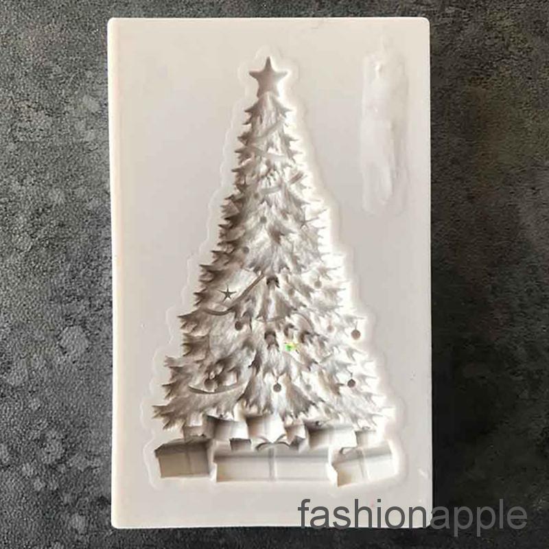 Silicone Christmas Tree Fondant Mould Cake Decorating DIY Baking Mold Suga Deko