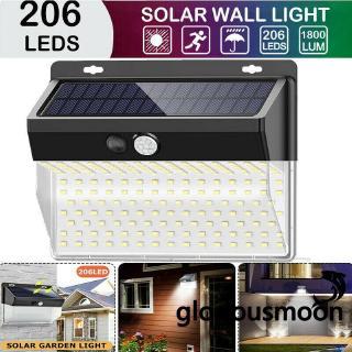 54LED Solar Lampe mit Bewegungsmelder Fluter Sensor Strahler Be