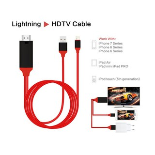 1080p Hdtv Tv Digital Av Adapter Cord 8 Pin To Hdmi Cable