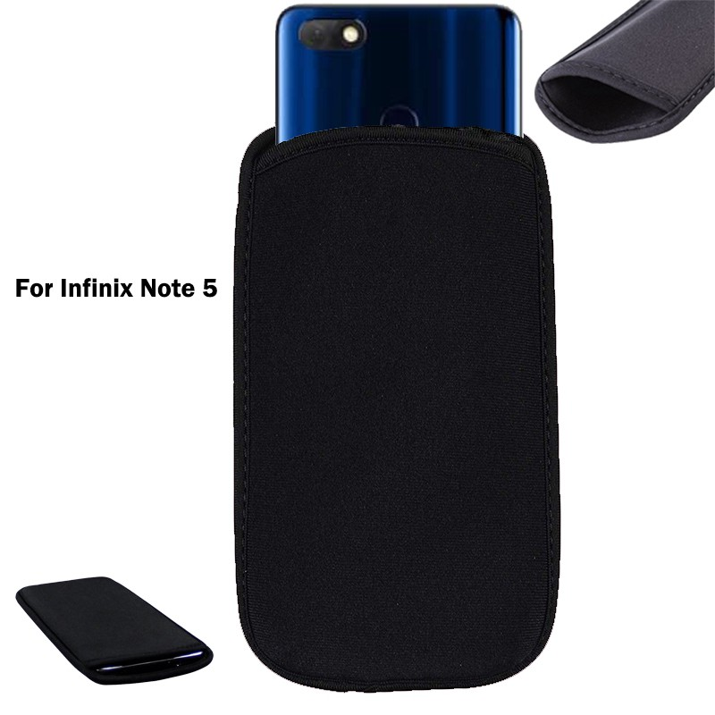 Soft Neoprene Black Pouch Infinix Note 5 Elastic Sleeve Protective bag Case
