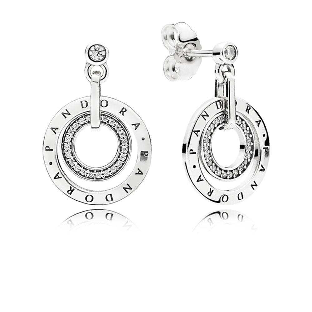 efed96d849be6 Authentic Pandora Circles Drop Silver Women's Earrings