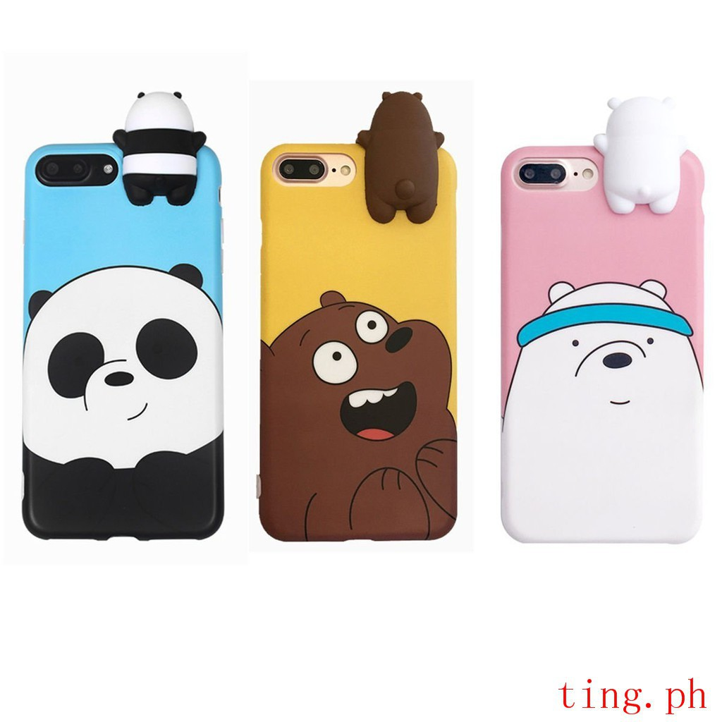 size 40 3cf94 91e63 WE BARE BEARS DOLL 3D PEEP CASE for A37 A57 A39 NEO7 V5S Y67