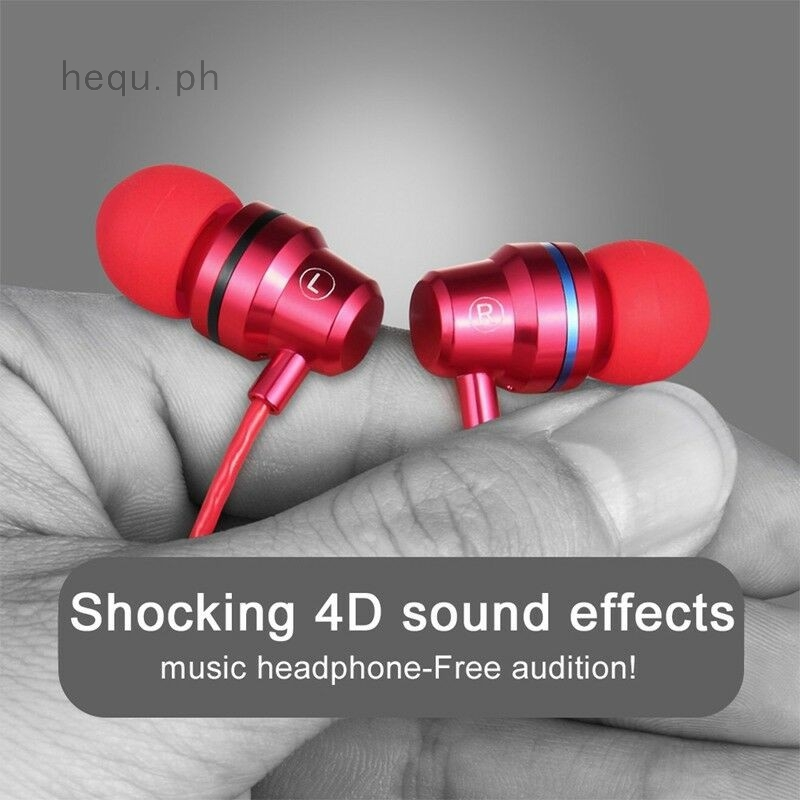 HIFI Headset 3 5mm In-Ear Earphone Stereo Earbuds Headphone Wired With Mic