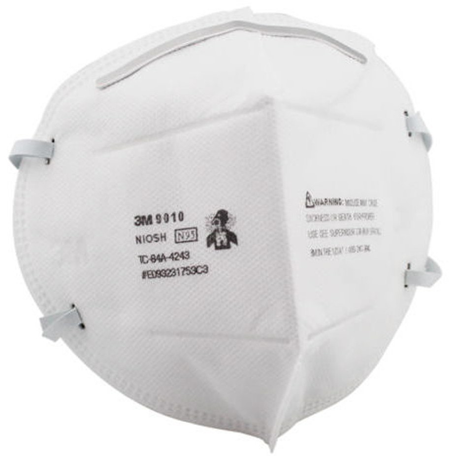 10 N95 Particulate Respirator 3m Pieces 9010 Folding