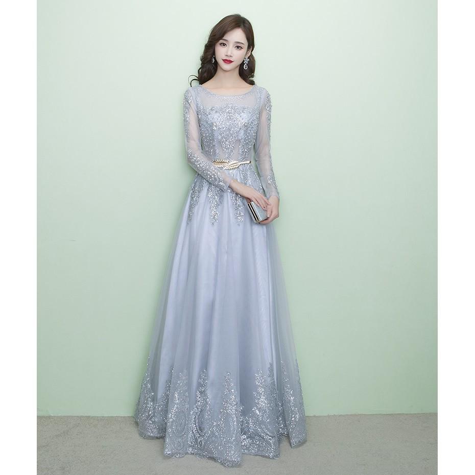 S 20Xl New Elegant Long Lace Bride Wedding Dress Women Bridesmaid ...