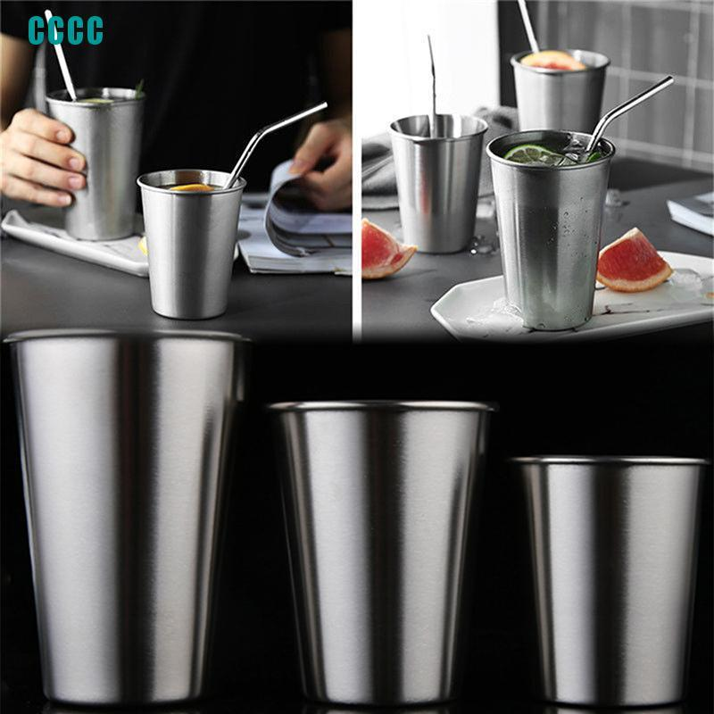 Stainless Steel Cup Drinking Coffee Beer Tumbler Picnic Camping Travel Mug