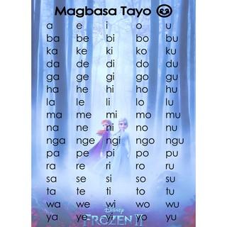 Laminated Abakada Chart A4 size | Shopee Philippines