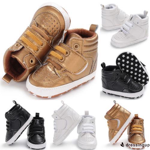 befccf079e Girl Soft Sole Leather Anti-slip Crib Shoes