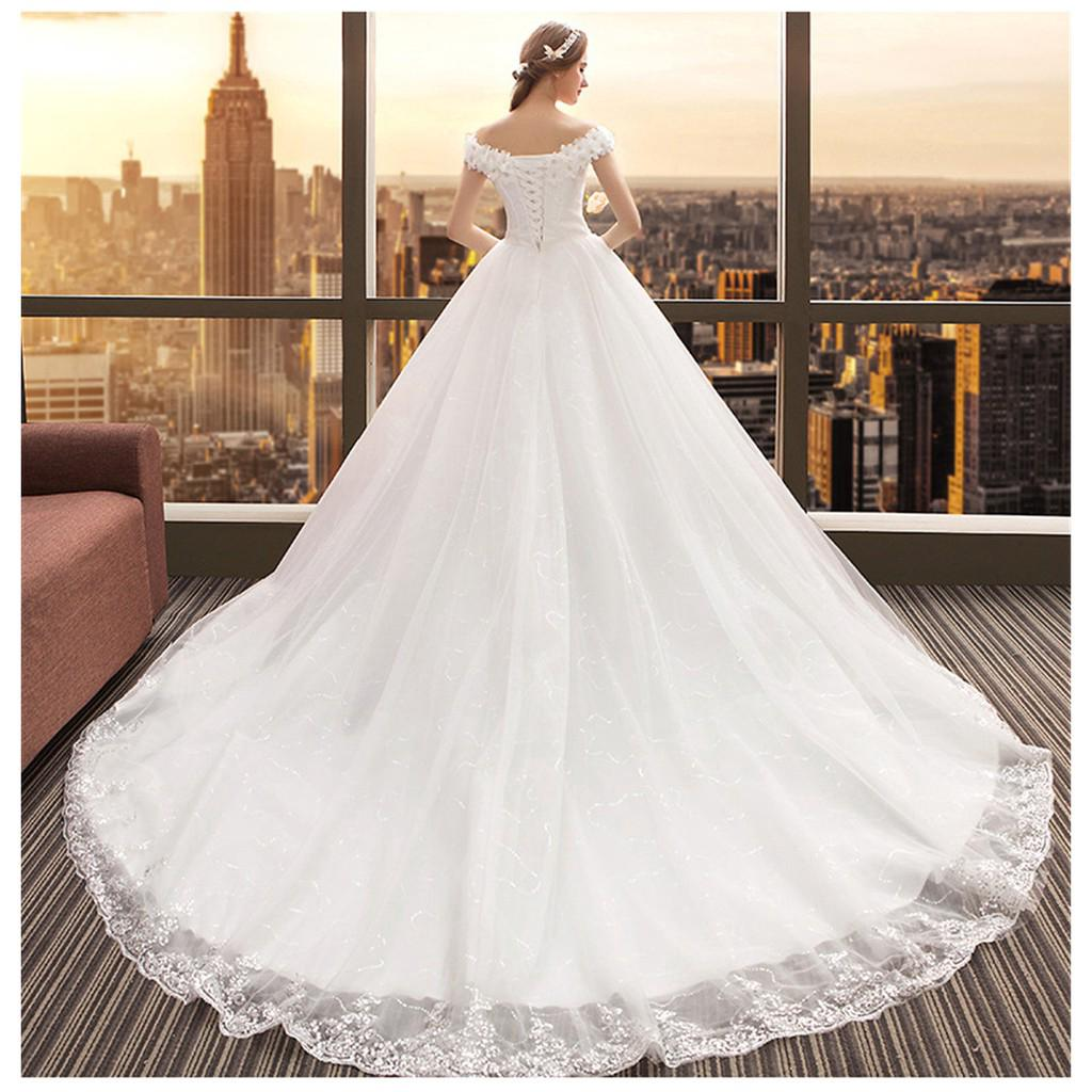 Simple Wedding Dresses In Philippines: Simple Sweet Lace Formal Dress Beaty Lace Tail Wedding