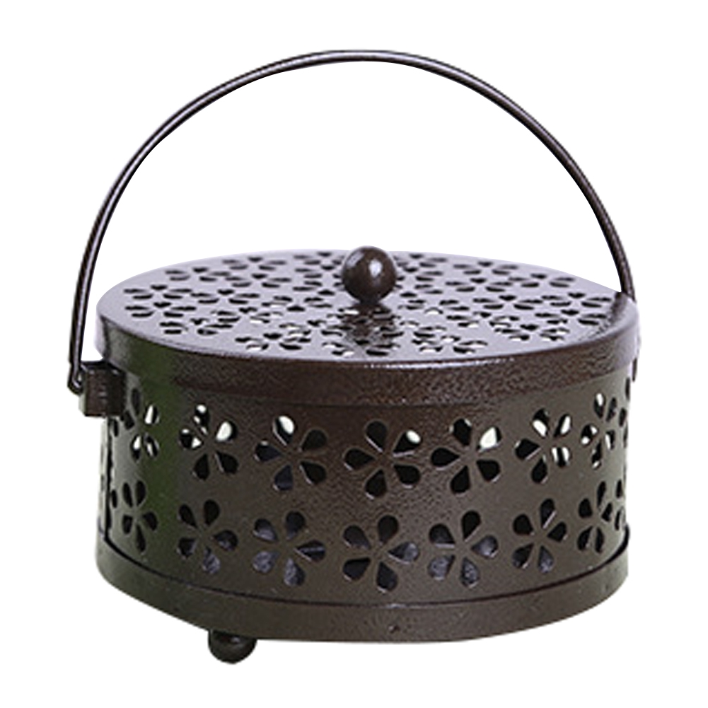 Metal Mosquito Mozzie Coil Holder Burner Repellant Home Garden Art Decor Outdoor