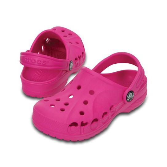 da1c9ac3f11c15 Authentic Crocs™ Kids Kerren Clogs Neon Pink   Oyster