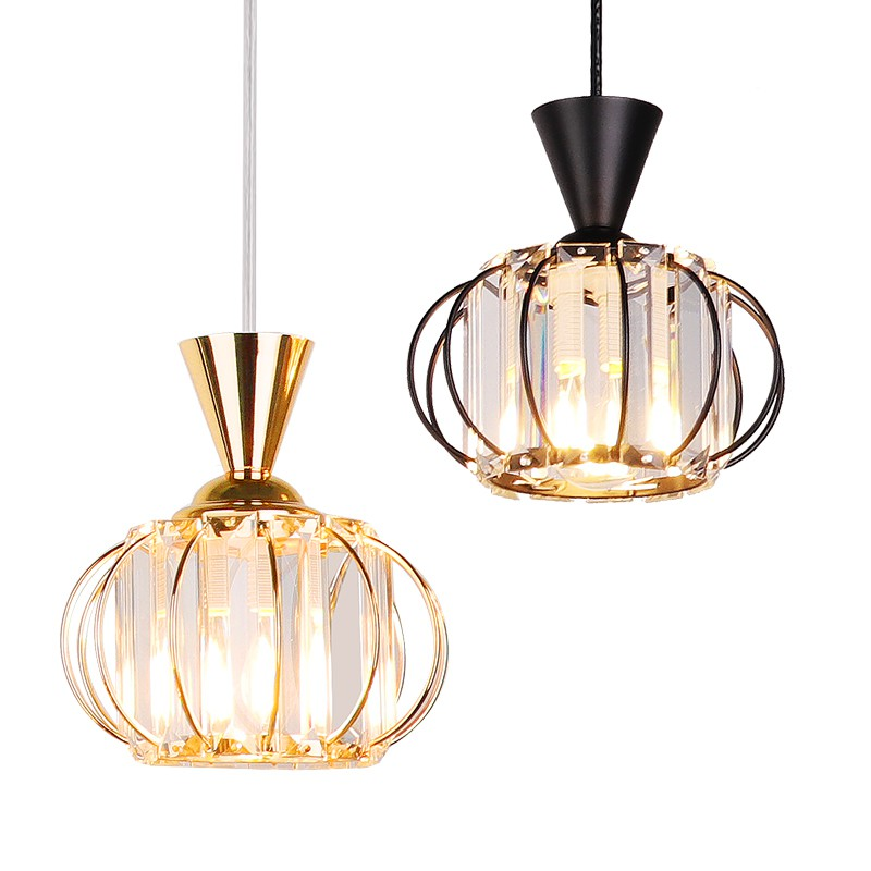 crystal pendant light black gold metal crystal aisle ceiling light nordic entrance chandelier light hanging ceiling light fixture pendant lighting