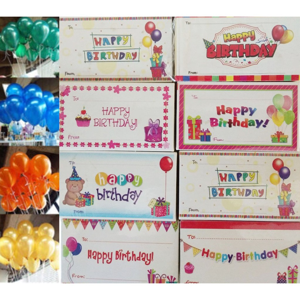 1pack 100pcs Happy Birthday Gift Cards Shopee Philippines