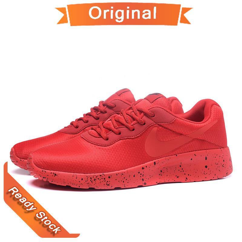 supersöt Utgivningsdatum: bästa valet NIKE TANJUN SE Leisure Running Shoes Full red splash-ink REA ...
