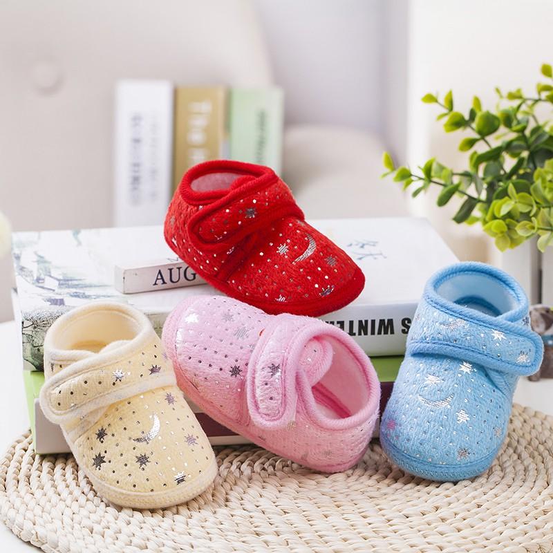 Rose Red, 13-18months/_13cm Newborn Canvas Baby Shoes Cartoon Animal Pattern Baby Girl Toddler Infant Print Dot Anti-Slip First Walker Cute Sneaker