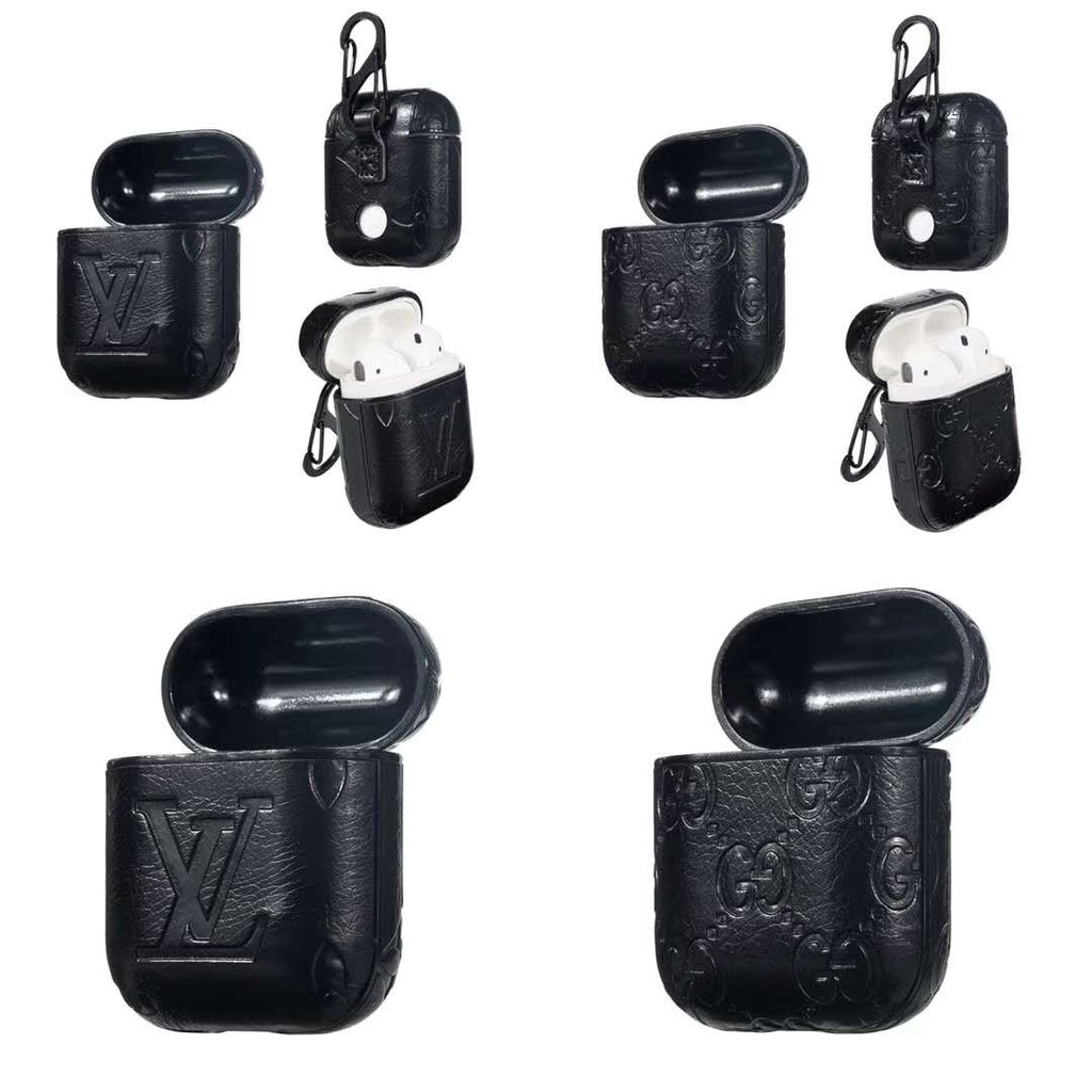 Lv Airpods Pro Leather Case Gucci Earphone Protective Soft Airpods