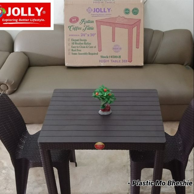 Jolly Rattan Tables Chairs Shopee Philippines