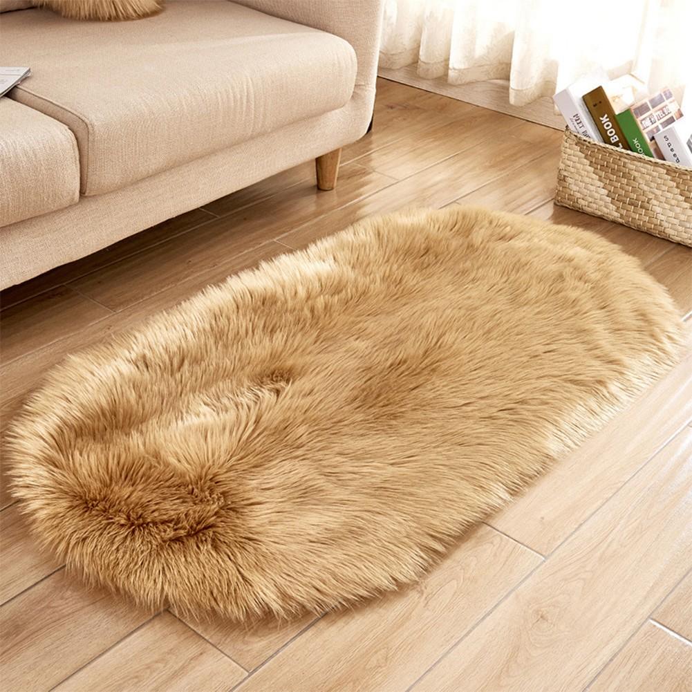 Soft Faux Sheepskin Fur Area Rugs For