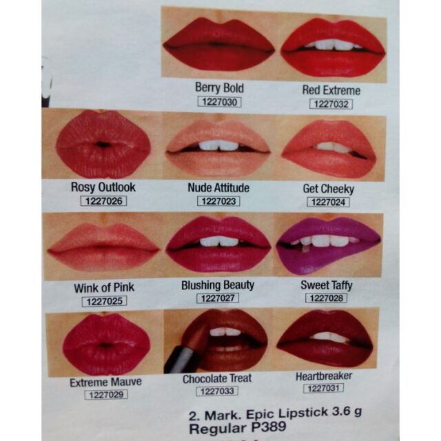 Avon Mark Epic Lipstick With Built In Primer Shopee Philippines