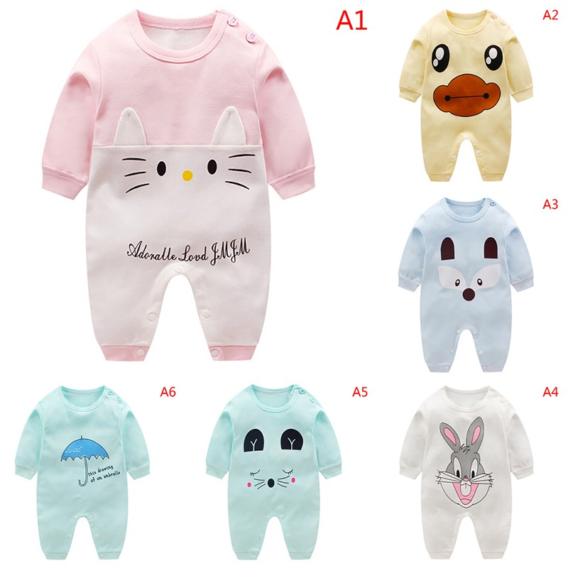 c5496abe1e4 Cute Kids Boys Girls Casual Cotton Jumpsuit Romper Baby Infant Toddler  Clothes