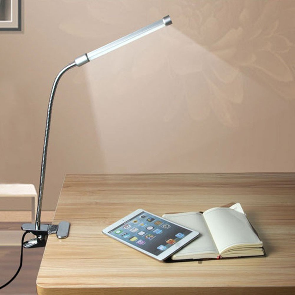 USB Table Lamp LED Touch Switch Study Bed Computer Light Laptop PC Desk Reading