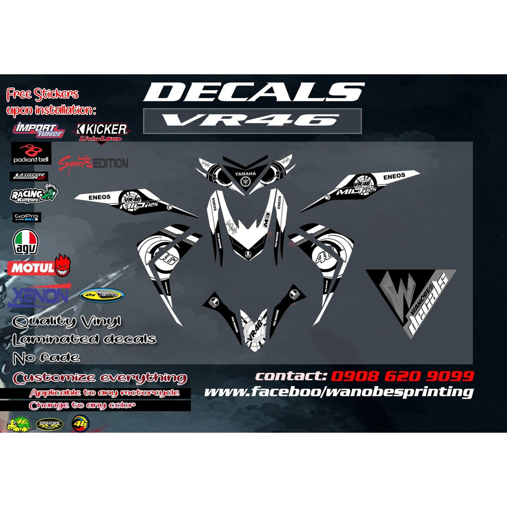 Mio decal motorcycle accessories prices and online deals motors jun 2019 shopee philippines