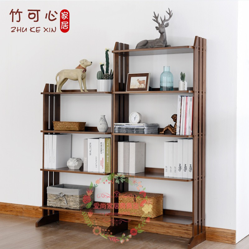 info for 9d84a 806ee bamboo heart simple bookcase shelf simple modern solid wood