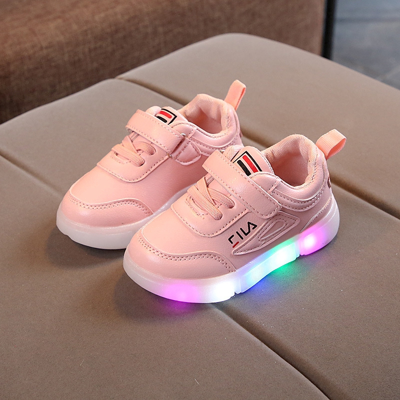 a17bcc2a9 NEW Fila LED lighting children's shoes casual shoes   Shopee Philippines