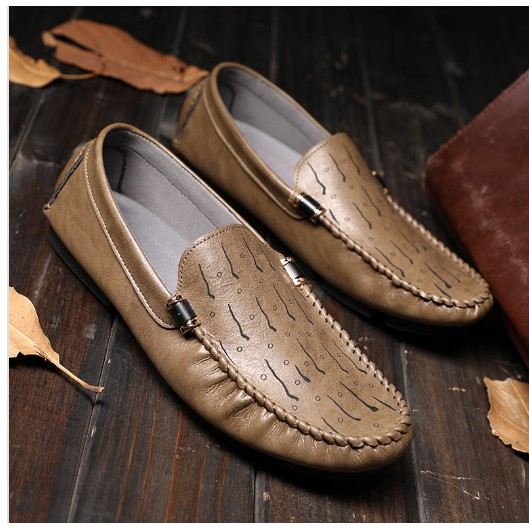 7c39aa122c Men Doug Shoes Genuine Leather Rubber Loafers Driving Shoes | Shopee ...