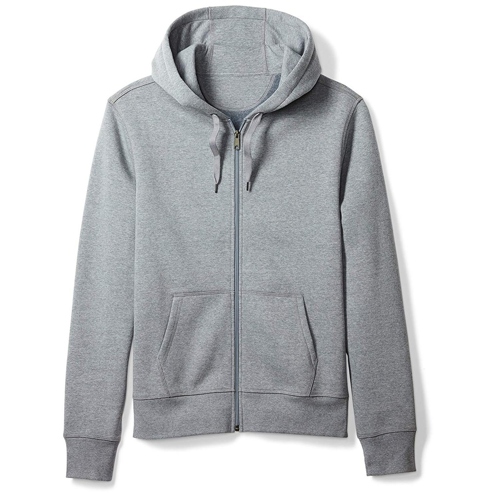 5 Colors Unisex Plain Jacket w/ Zipper Hoodie for Men Women