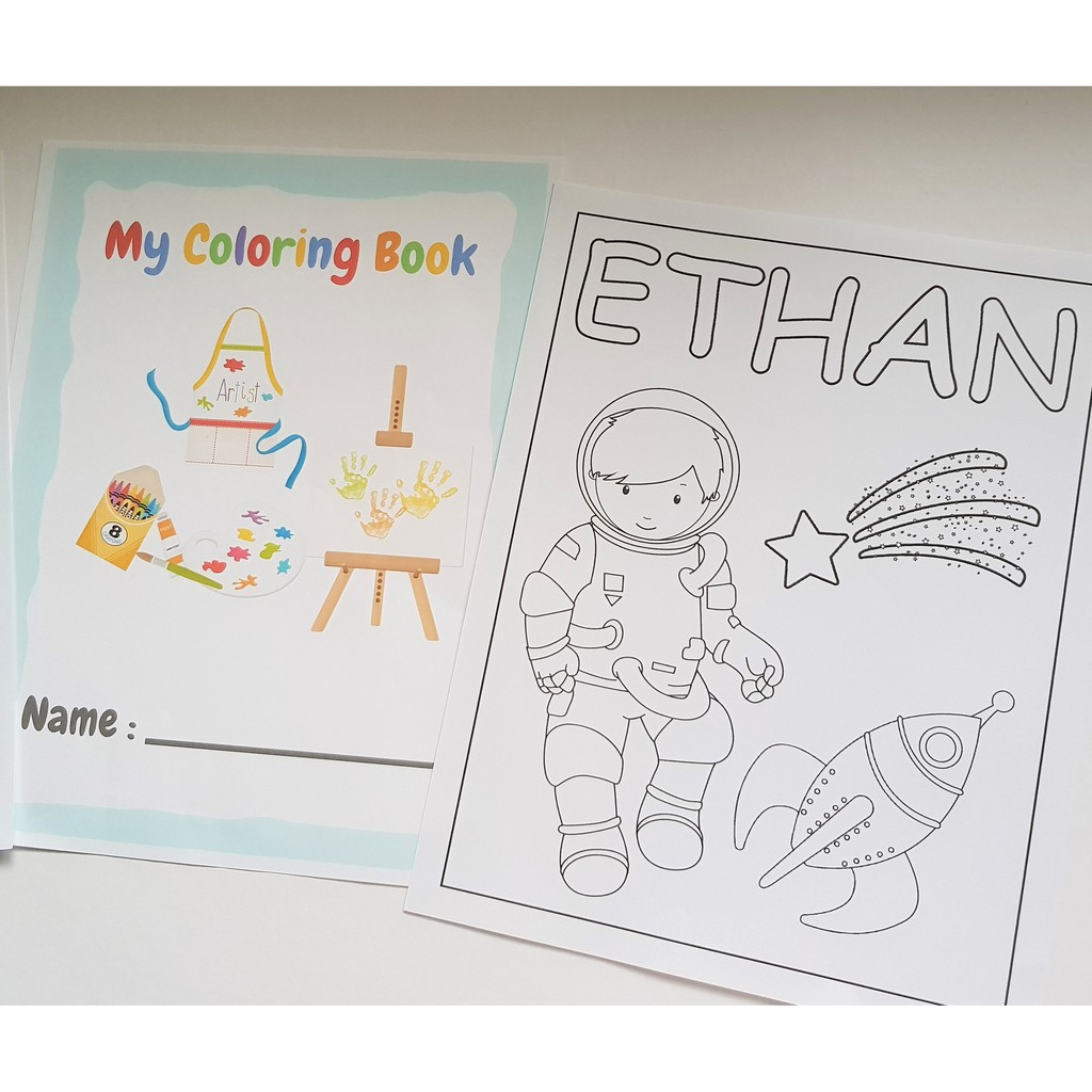 Personalized Coloring Book For Kids Alphabet Numbers Personalized Pages Shopee Philippines