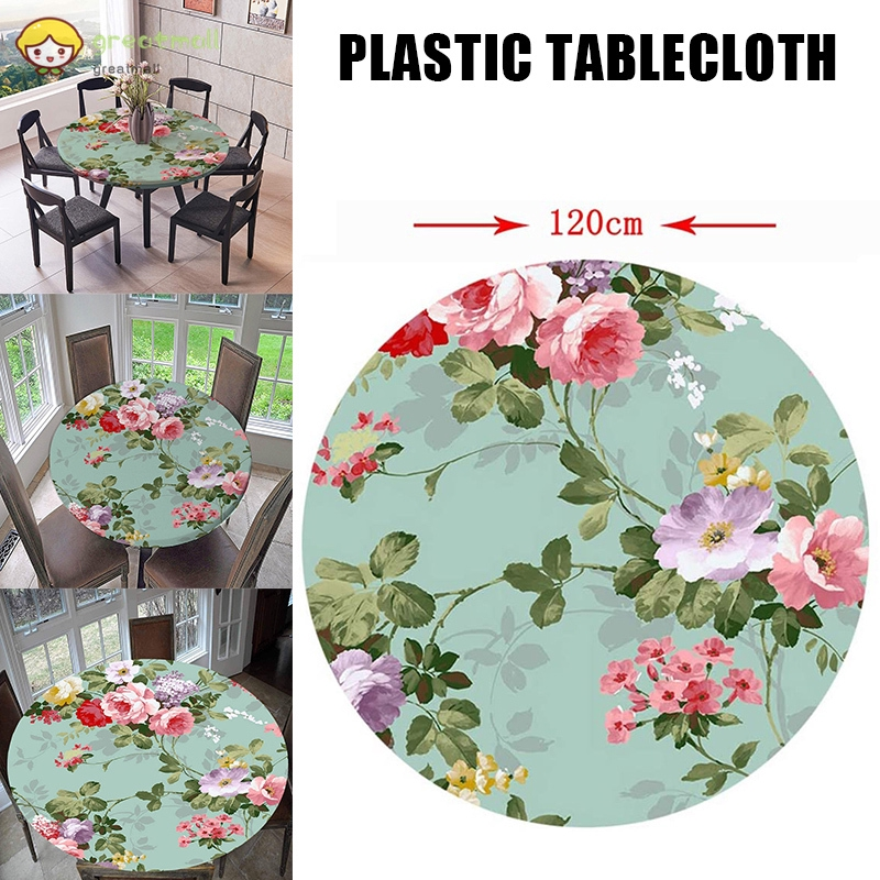 Gm Waterproof Round Table Cloth Plastic, Round Table Cover Plastic