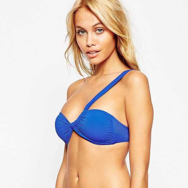af33d98a3e ASOS One Shoulder Bikini Top Baltimora Blue US4