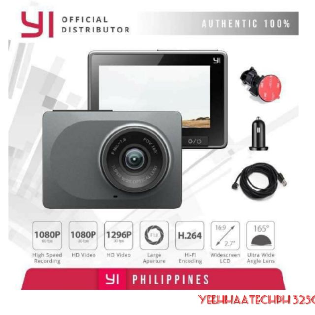 YI Smart Dashcam with ADAS and night Vision