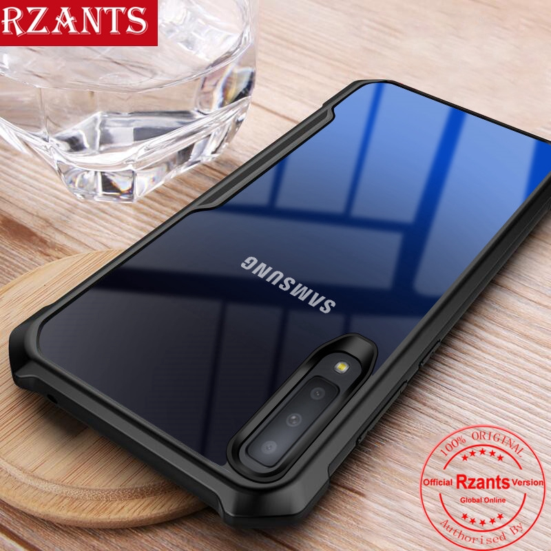 Samsung Galaxy A7 2018 A750 Case【Transparent Back】Slim Cover