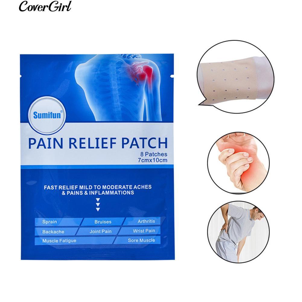 COD 8Pcs Lumbar Shoulder Back Pain Relief Patch Effective Massage Ointment Plaster