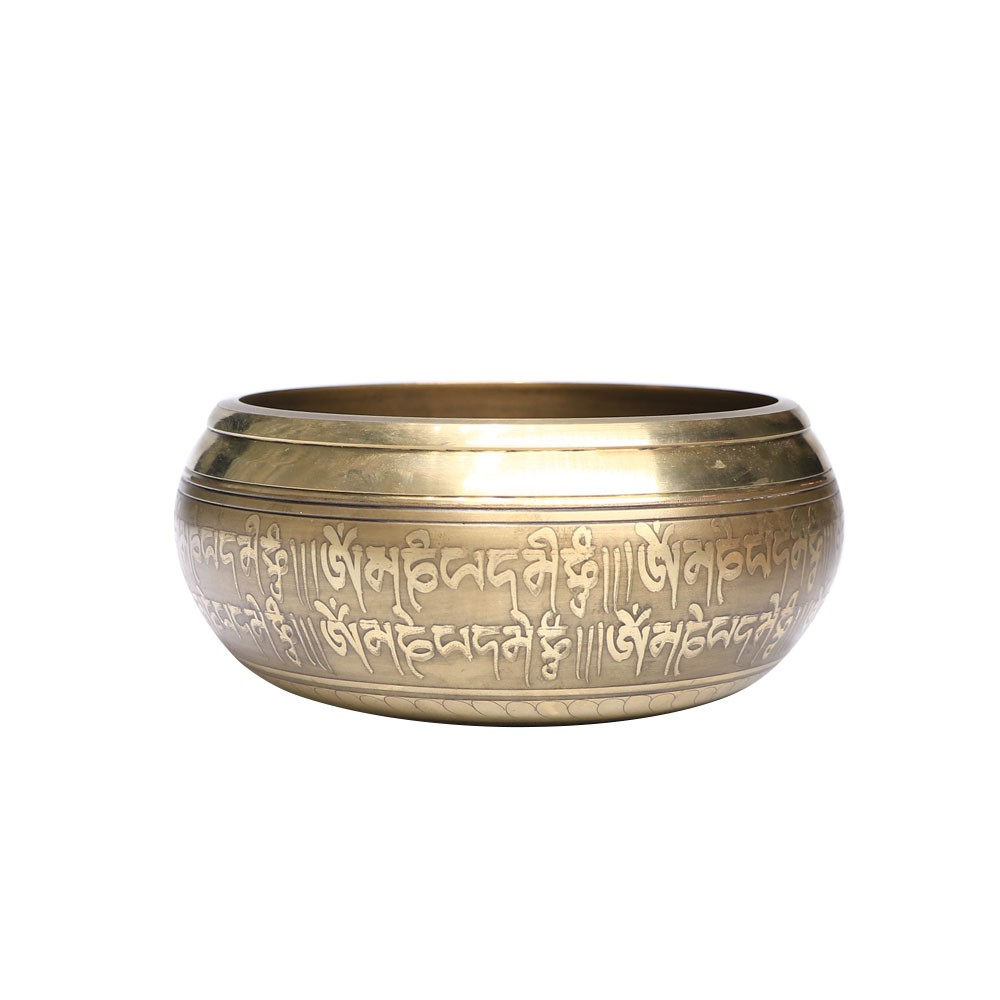 Muslady Tibetan Copper Buddha Sound Singing Bowl Set Meditation Musical Instrument Home decoration with Striker And Cushion