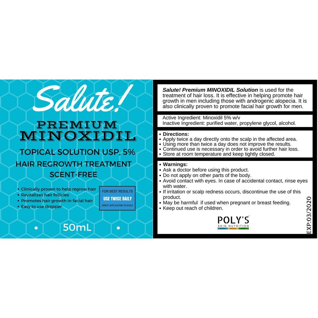 Salute! Premium Minoxidil USP 5%(50mL) | Shopee Philippines