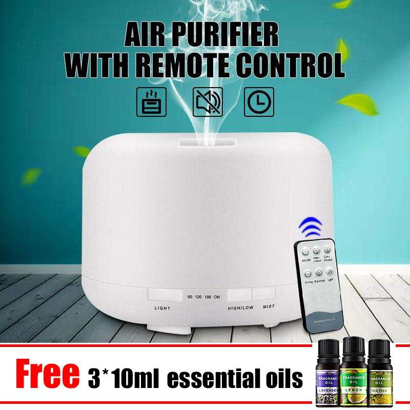 500ML remote control aromatherapy essential oil diffuser