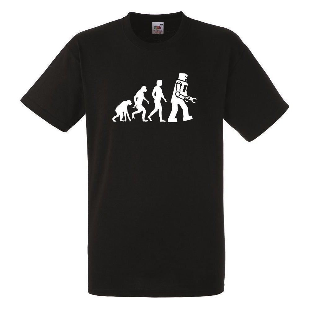 online store c134a c9807 EVOLUTION ROBOT Black Herren T-shirt Men Rock Band Tee Shirt