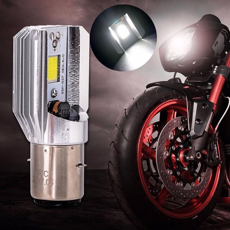 H6 BA20D Universal Motorcycle LED Headlight Bulb DC 12V-24V 12W COB Bike